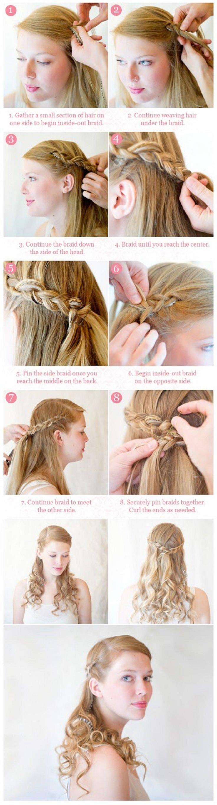 Прически с косами схемы фото