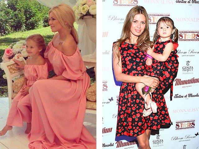Одинаковые платья мать и дочь