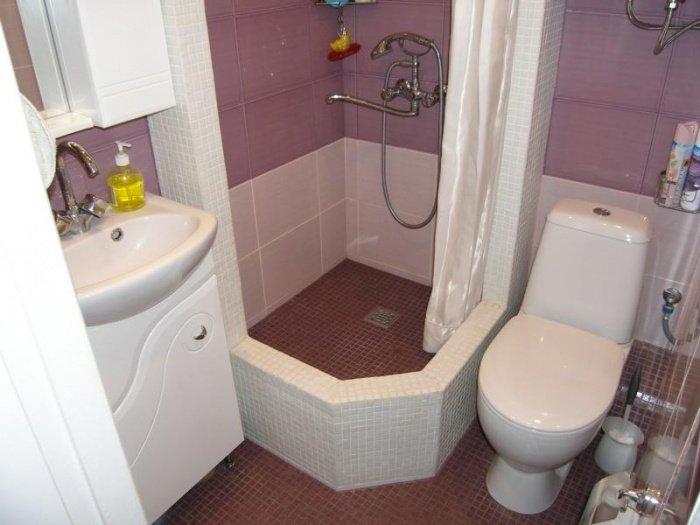 Ремонт в ванной комнате совмещенной с туалетом: фото инструкция