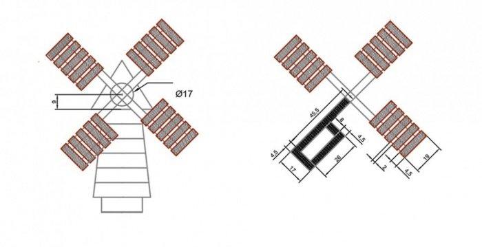Схема как сделать мельницу для сада своими руками схема пошаговая инструкция 67
