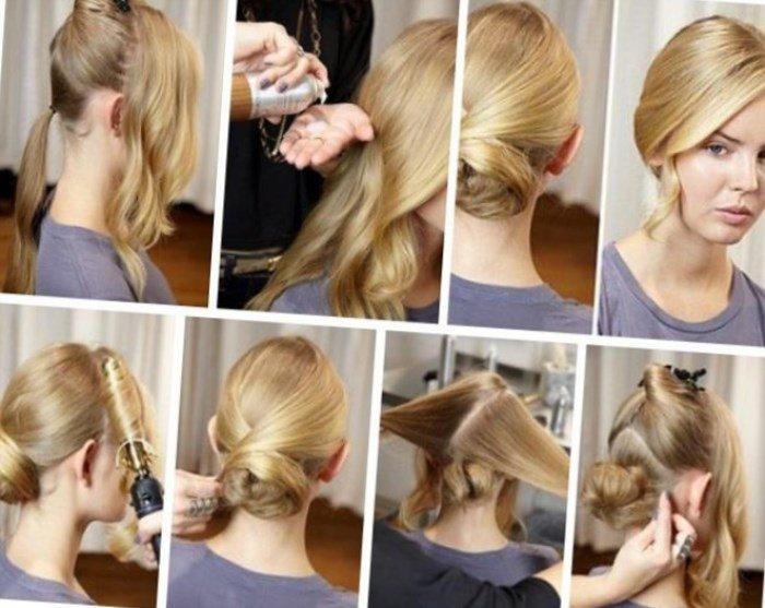 Прически на работу на средние волосы в домашних условиях