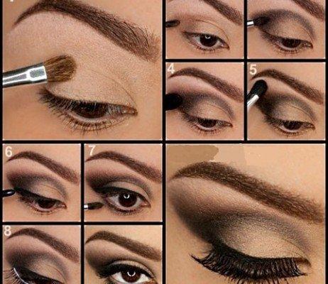 Вечерний макияж пошагово картинки 8