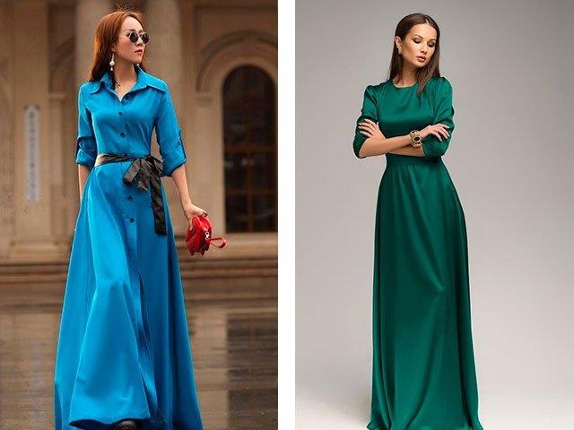 Длинные модные красивые платья 33