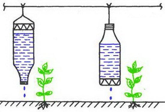 Сделать капельницы для полива
