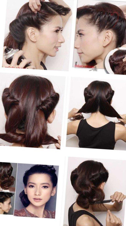 Красивая прическа на волосы до плеч своими руками 45