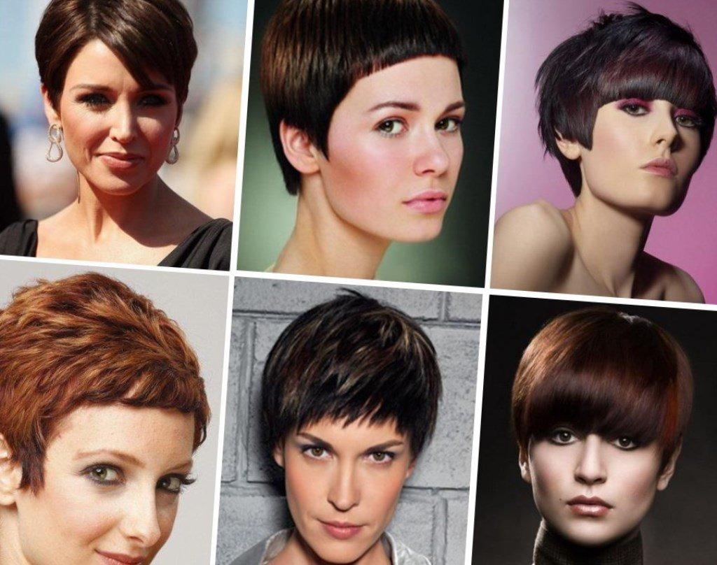 короткие стрижки для прямоугольного лица фото женские