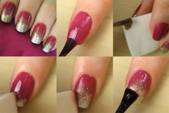 Ногти накрашены в домашних условиях 809