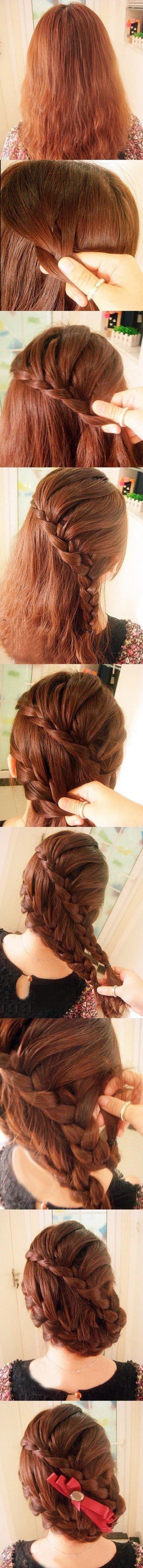Плетение косы на бок пошаговые фото