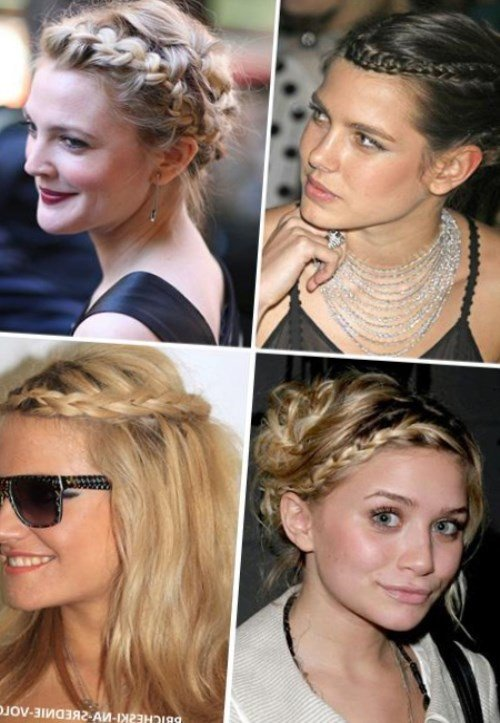 Причёски для волос чуть ниже плеч в домашних условиях