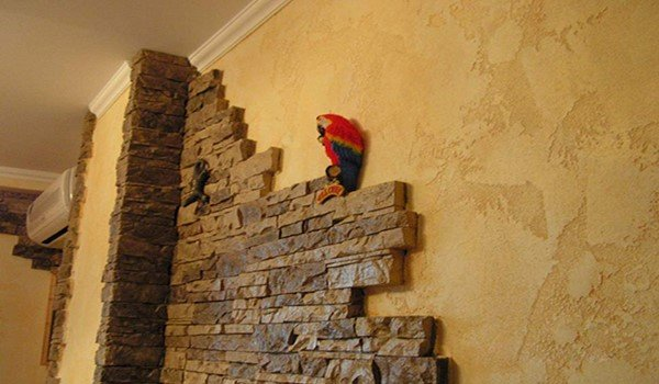 Декор стен камнем своими руками 29