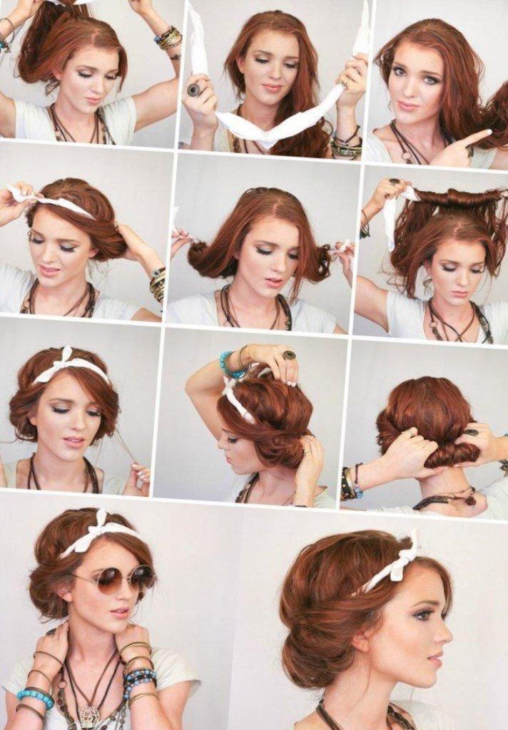 Как сделать высокую прическу на короткие волосы пошагово