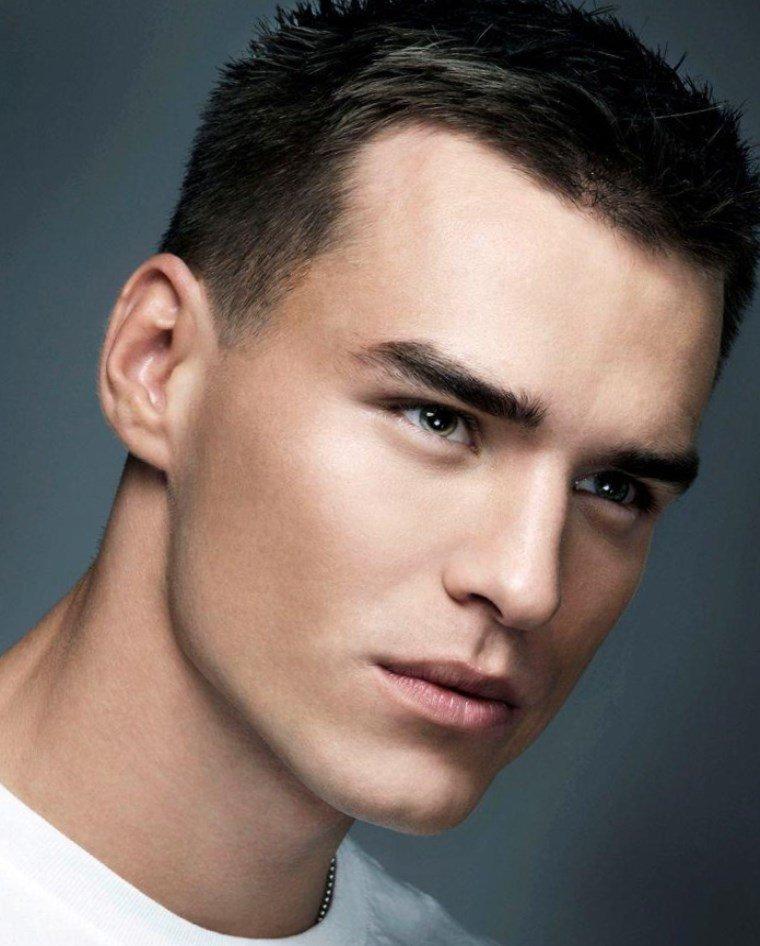 Причёски для овального лица мужские