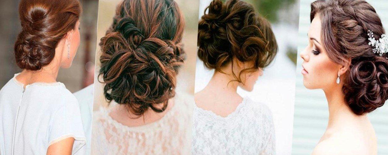 Вечерняя причёска на волосы чуть ниже плеч