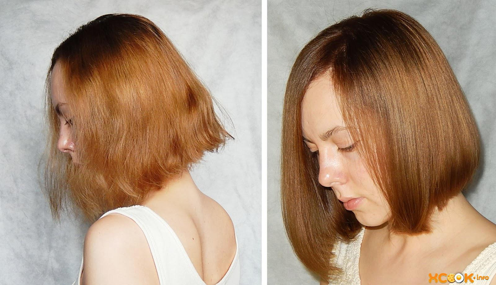 Ламинирование волос в домашних условиях желатином до и после