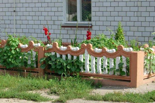 Забор перед домом своими руками фото 15