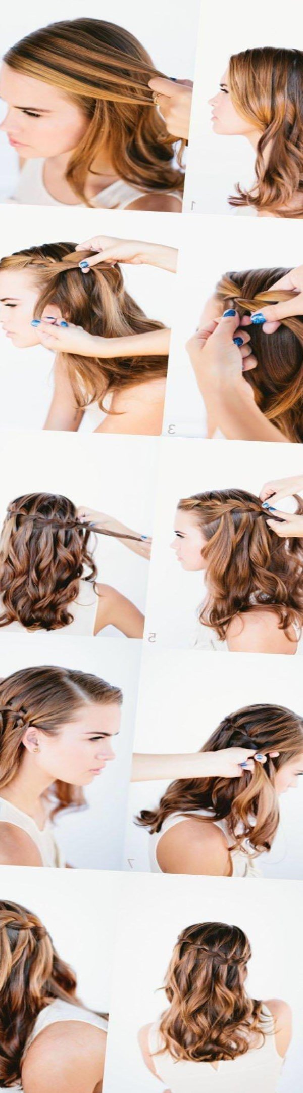 Прически на средние волосы фото схема