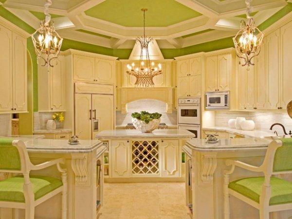 Дизайн кухни в зеленом стиле