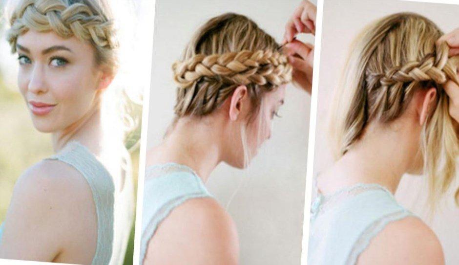 Прическа с косами своими руками на средние волосы фото 7