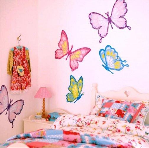 Рисунки на стенах детской комнаты своими руками