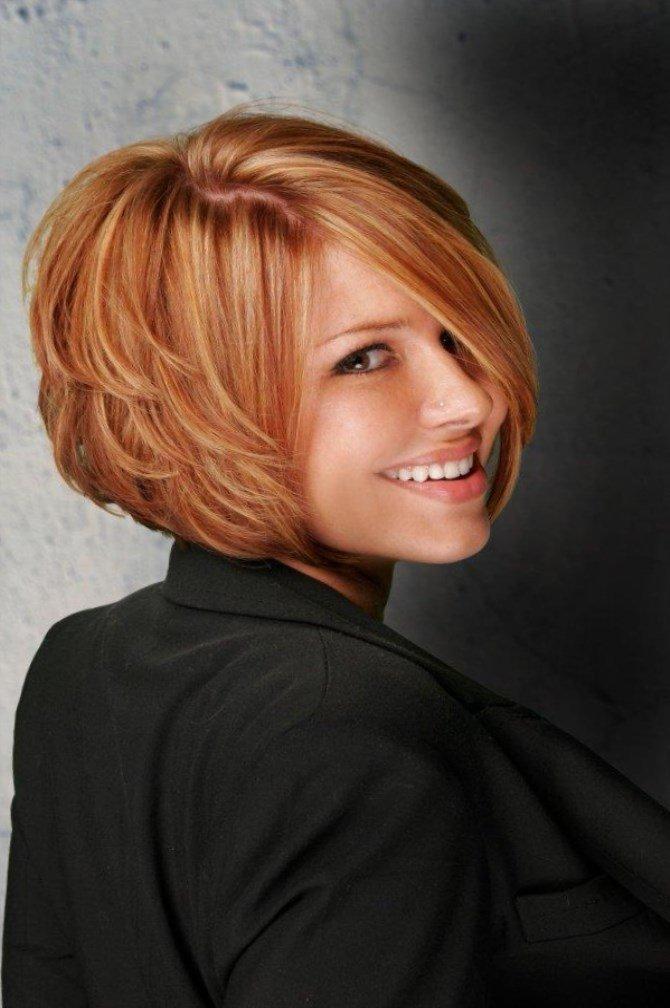 Короткая стрижка женская для пышных волос