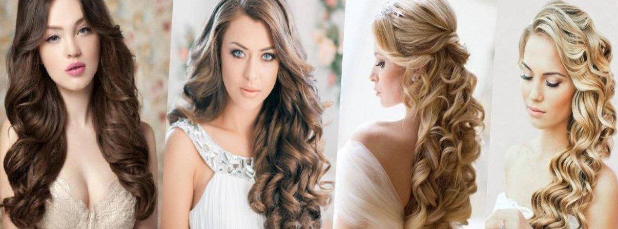 Красивые прически для распущенных волос средней длины