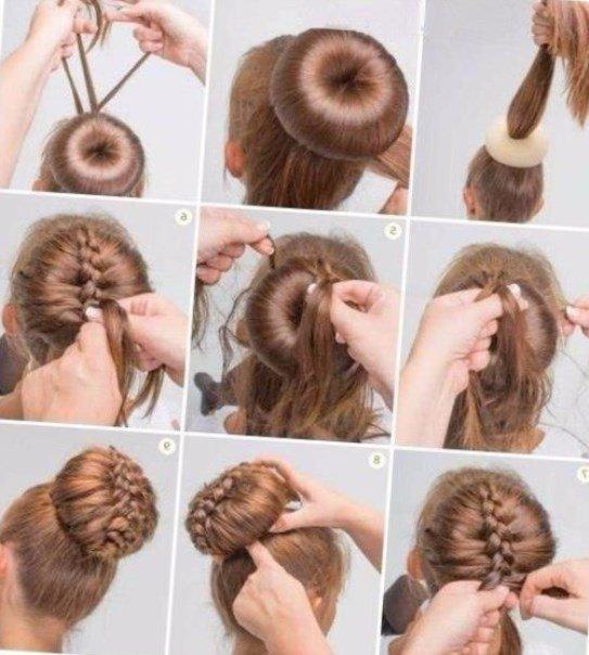 Прическа валик на средние волосы своими руками 610