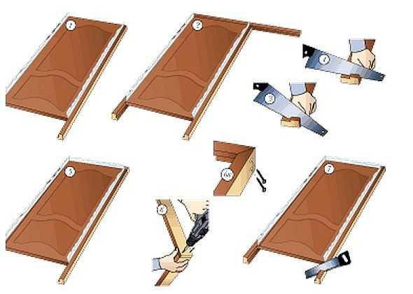 Как установить коробку межкомнатную дверь своими руками