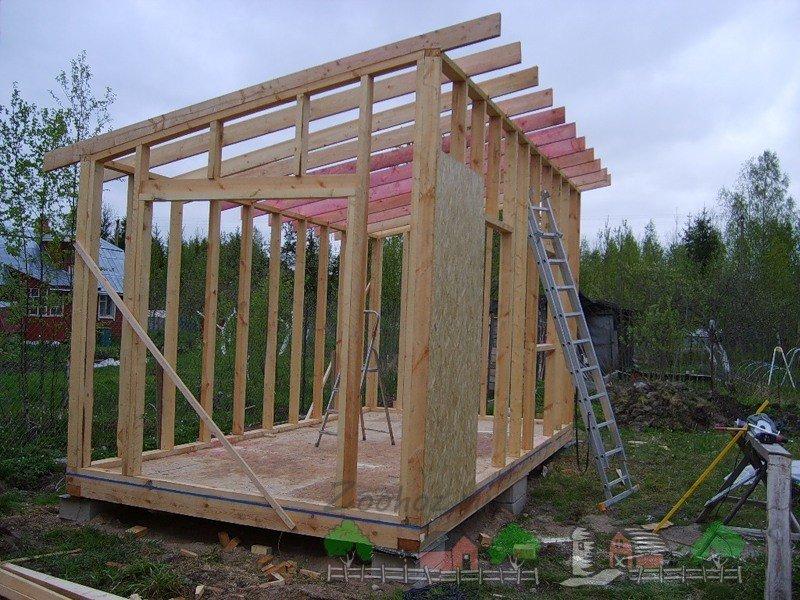 Построить сарай с односкатной крышей
