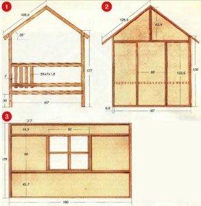 Дом на даче своими руками чертежи размеры фото 55