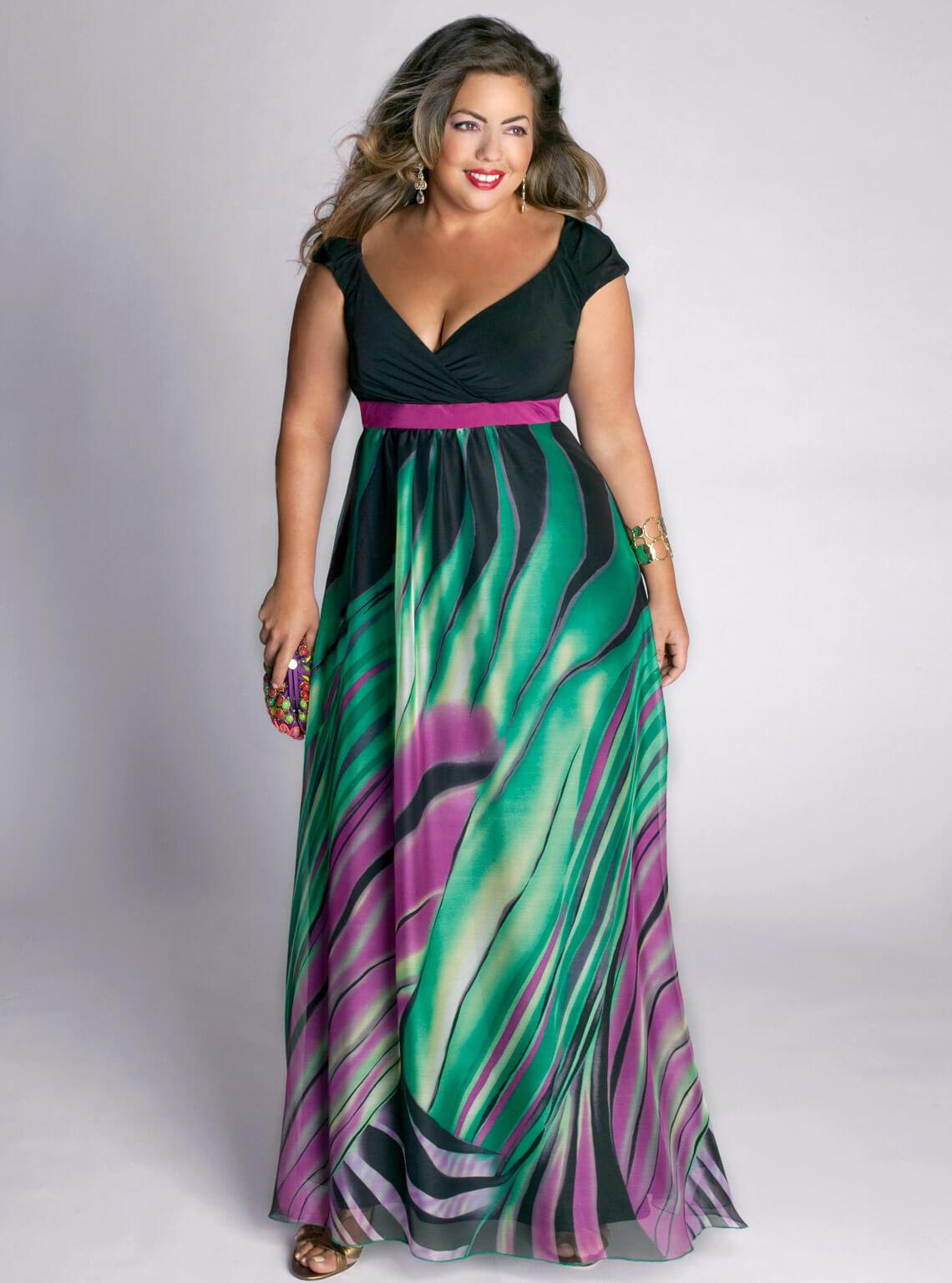 Как сшить красивое платье для полных женщин фото