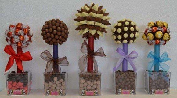 Дерево из конфет своими руками мастер класс 48