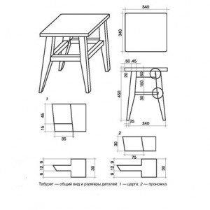 Схема стула из дерева своими руками 92