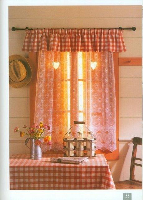 Фото дизайна штор для дачи