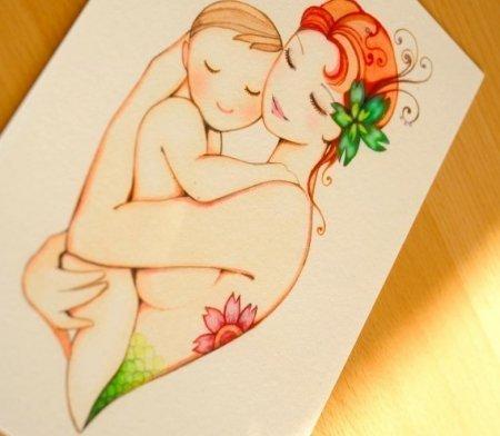 Рисунок для мамы своими руками 179
