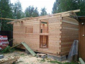 Как построить дом баня своими руками из бруса