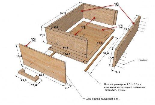 Ящики для тумбы своими руками 25