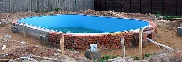 Строительство бассейна из кирпича своими руками 61