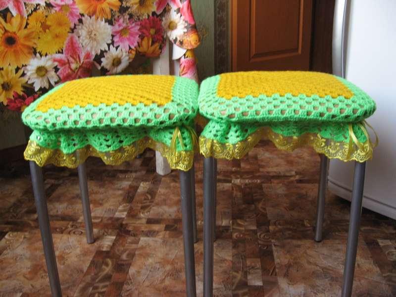 Чехлы на кухонные табуретки своими руками 86