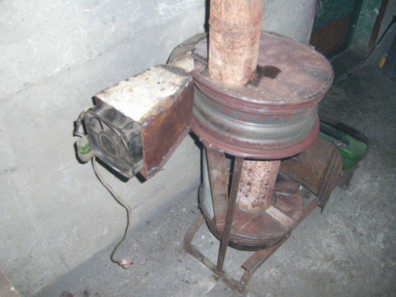Печка работающая на отработанном масле своими руками 41