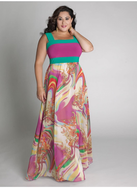 Какие платья в моде для полных фото лета