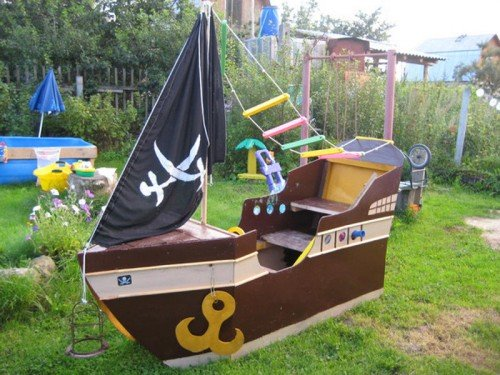 Кораблик для площадки своими руками 213