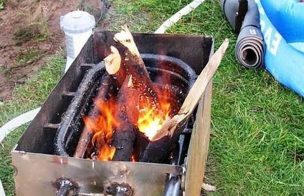 Своими руками водонагреватель на дровах