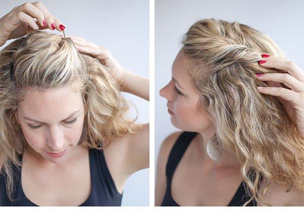 Заколоть волосы средней длины в домашних условиях 89