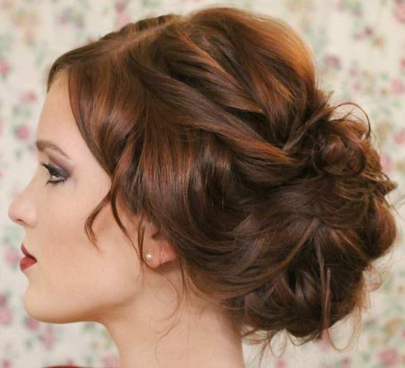 Женские прически с убранными волосами
