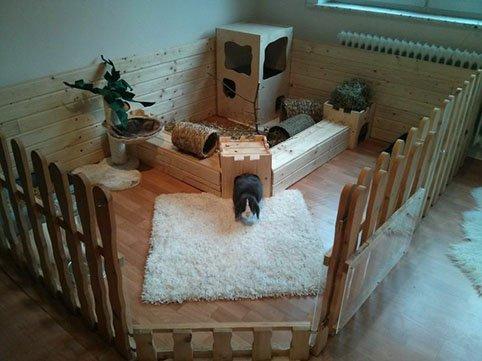 Как сделать домик из коробки для кроликов своими руками 72