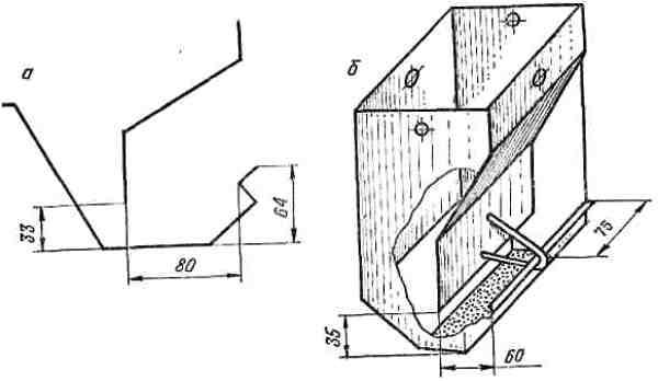 Бункерная кормушка для кроликов своими руками из трубы 80