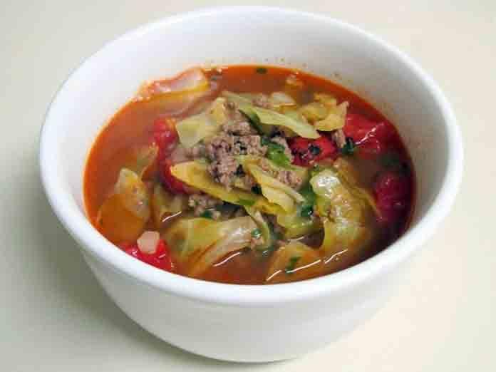 суп рисовый с капустой и фаршем