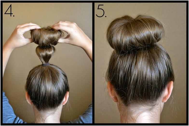 Как сделать себе бублик на голове