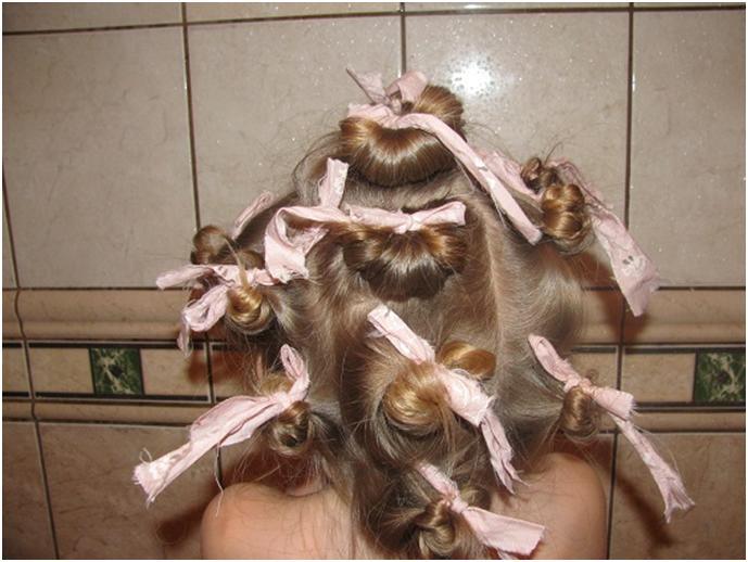 Как накрутить волосы на тряпочки пошаговая инструкция