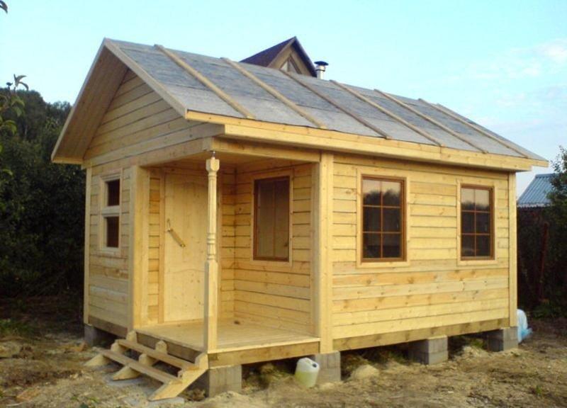 Строительство садового домика из бруса своими руками